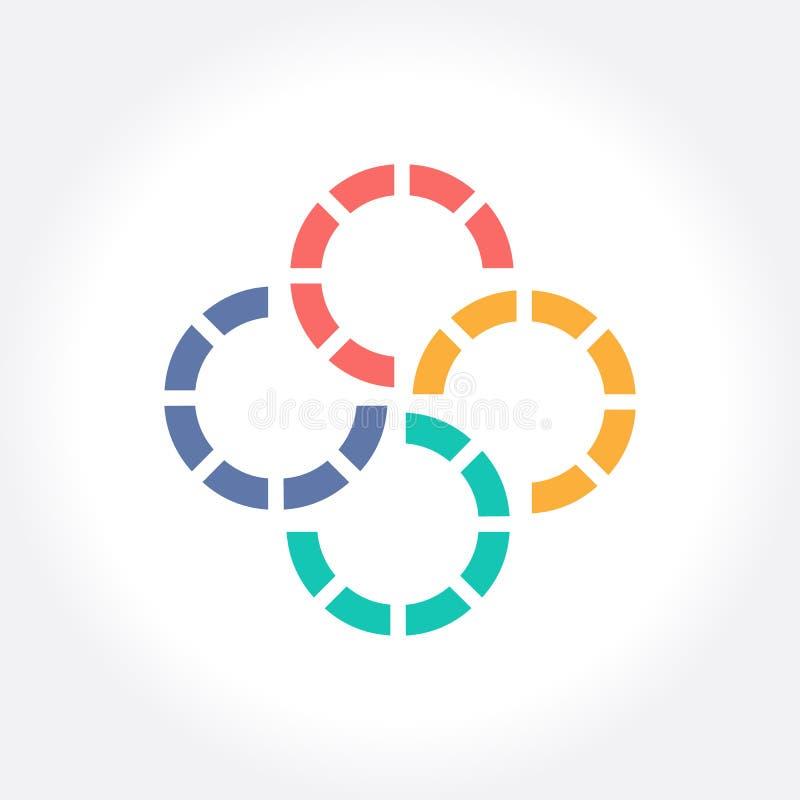 Geometrisch vector de kunstontwerp van het Cirkelembleem voor zaken stock illustratie