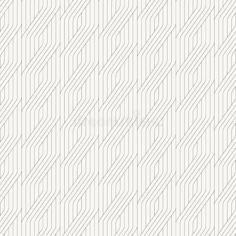 Geometrisch vectorpatroon voor gefingeerde borduurwerkontwerpen, die met geometrisch gestreept ornament herhalen Zwart-wit lineai vector illustratie