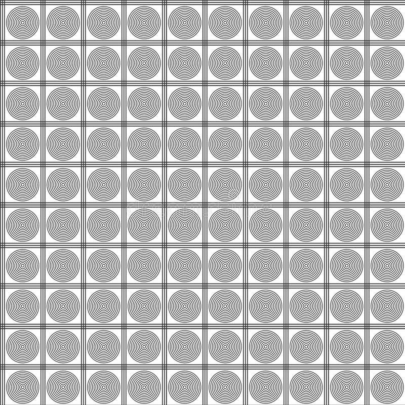 Geometrisch vierkant en sircles naadloos patroon Manier grafisch ontwerp royalty-vrije illustratie