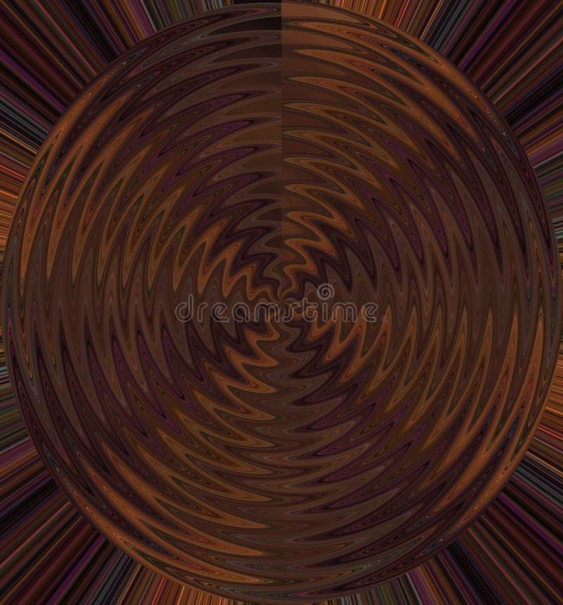 Geometrisch wiel van vloeibare kleur royalty-vrije illustratie