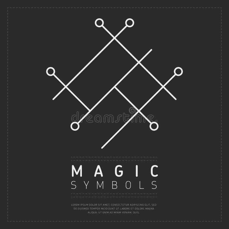 Geometrisch wit magisch symbool stock illustratie