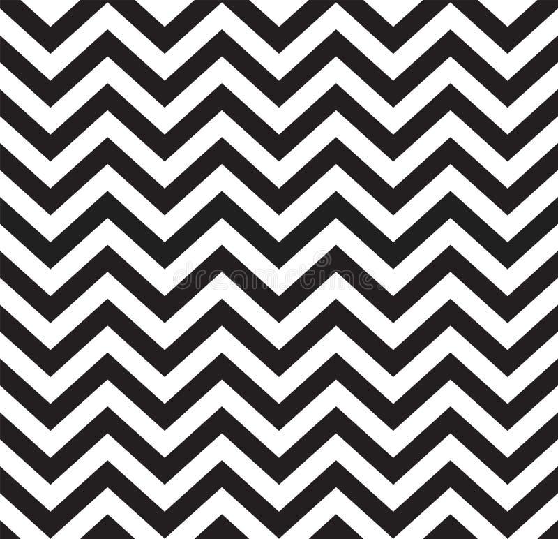Geometrisch zigzag naadloos patroon stock illustratie