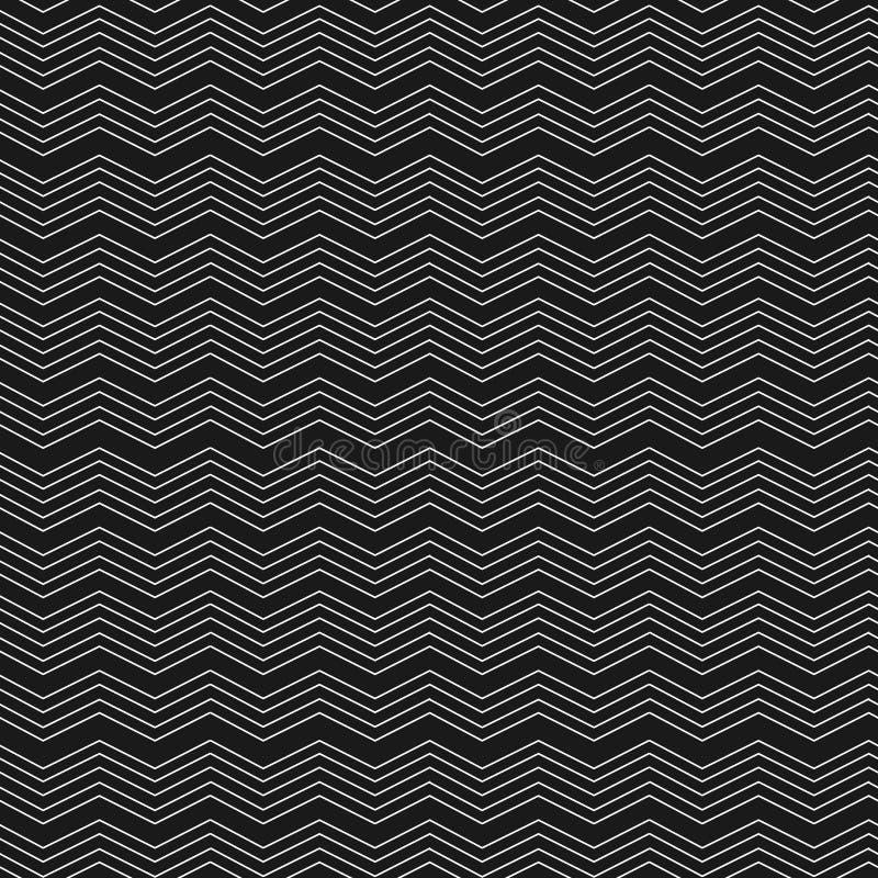 Geometrisch zigzag naadloos patroon Manier grafisch ontwerp Vector illustratie Optische illusie Moderne modieuze abstracte textuu vector illustratie