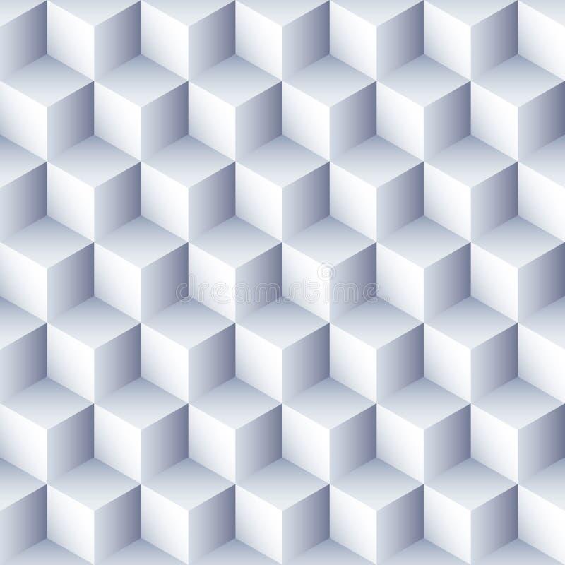 Geometrische abstracte achtergrond 3d kubussenpatroon Volume hexagon naadloze textuur vector illustratie