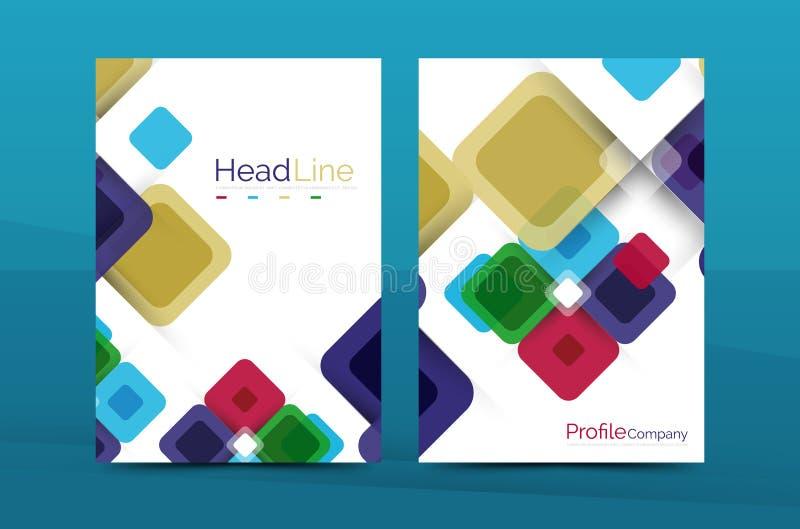 Geometrische abstracte achtergrond, het malplaatje van het bedrijf jaarverslag royalty-vrije illustratie