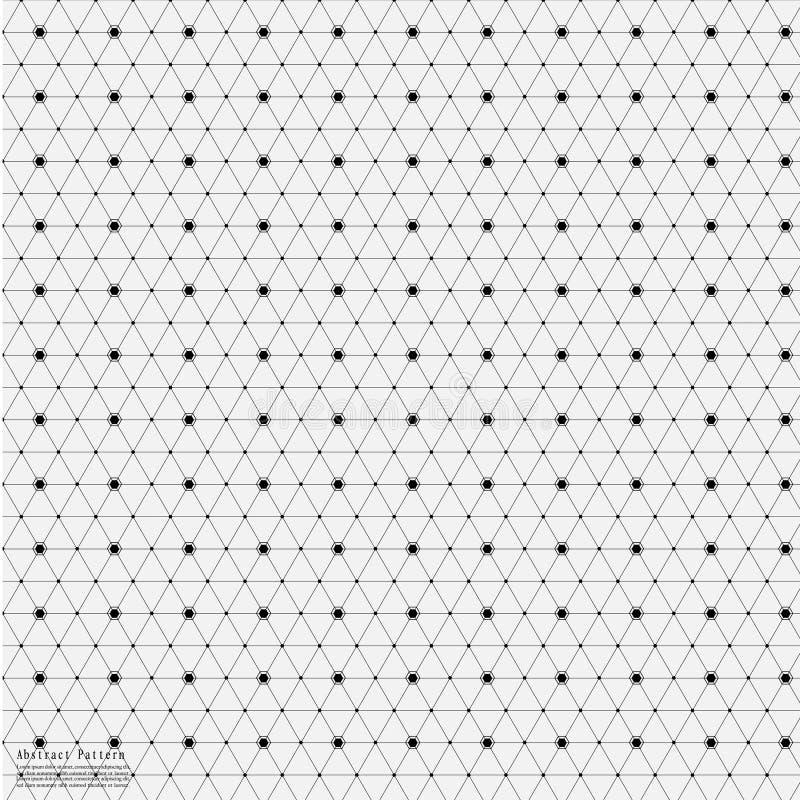 Geometrische Abstracte Achtergrond met Verbonden Lijn en Dots Patterns vector illustratie