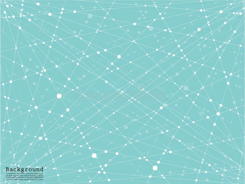 Geometrische abstracte achtergrond met verbonden lijn en punten royalty-vrije illustratie