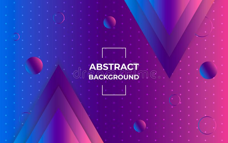 Geometrische abstracte achtergrond Modern patroon met van gradiëntdriehoeken en cirkels vormen Minimaal Grafisch Ontwerp royalty-vrije illustratie