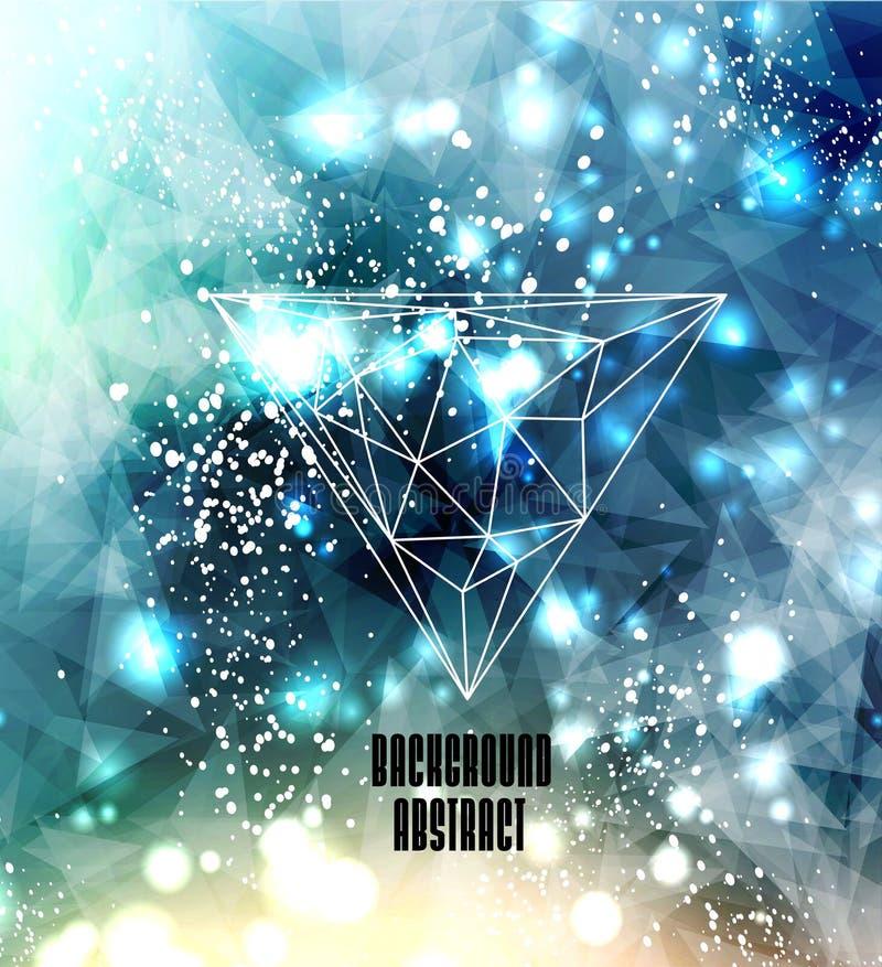 Geometrische abstracte achtergrond voor ontwerp royalty-vrije illustratie