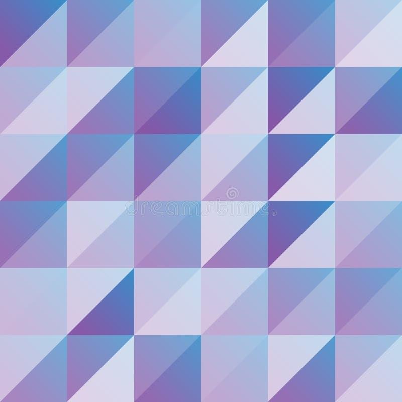 Geometrische abstracte driehoek en vierkante achtergrond Vector royalty-vrije illustratie