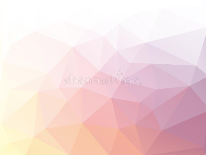 Geometrische abstracte gekleurde pastelkleur als achtergrond royalty-vrije illustratie