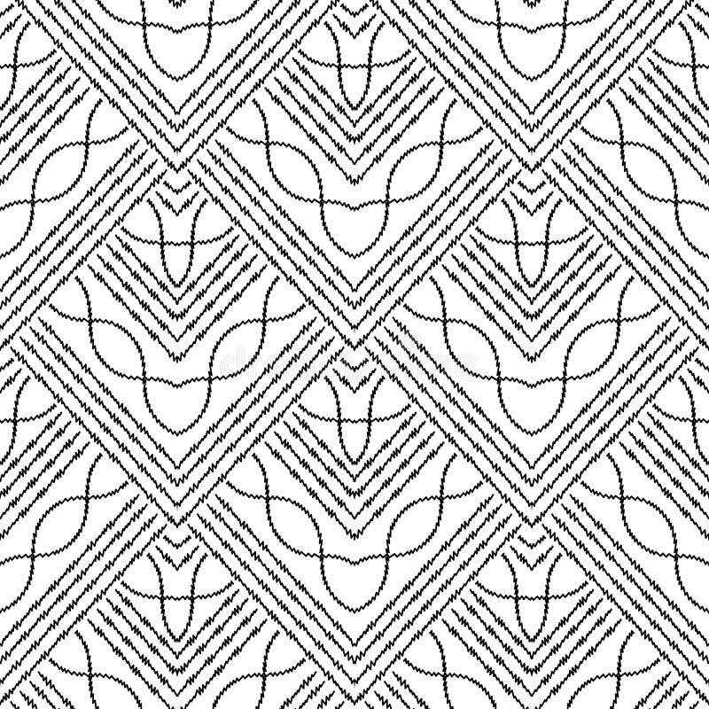 Geometrische abstracte gestreepte achtergrond  stock illustratie