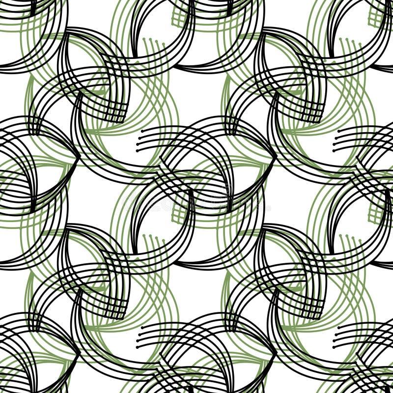 Geometrische abstracte heldere retro backgr van het elementen naadloze patroon royalty-vrije illustratie