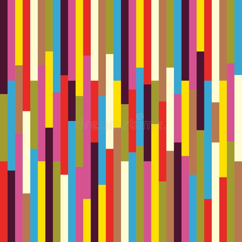 Geometrische abstracte kleurrijke uitstekende retro naadloze patroonachtergrond Ideaal voor stof, verpakkend document en het ontw stock illustratie