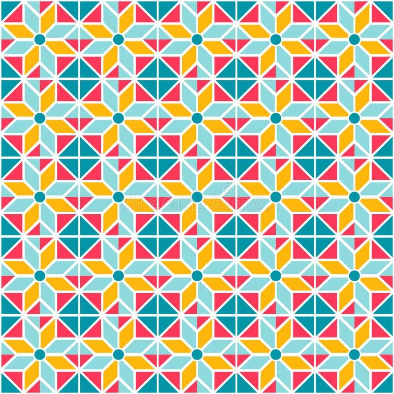 Geometrische abstracte naadloze patroonachtergrond vector illustratie