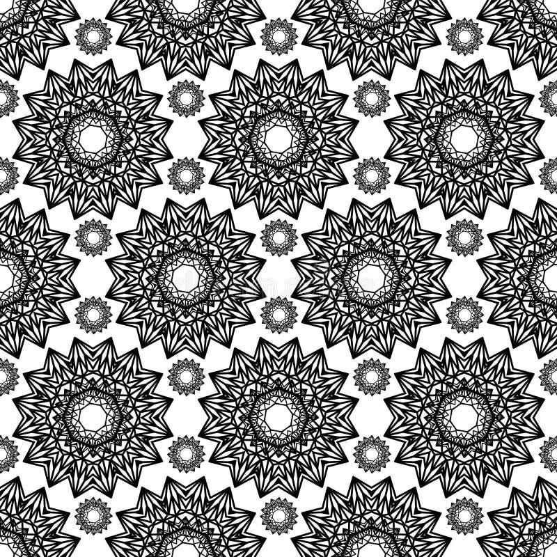 Geometrische abstracte naadloze vector symmetrisch patroon stock illustratie