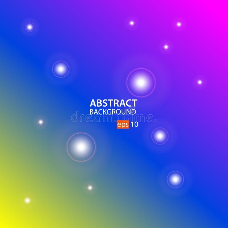 Geometrische abstracte vector als achtergrond met Geel, Blauw, Roze stock illustratie
