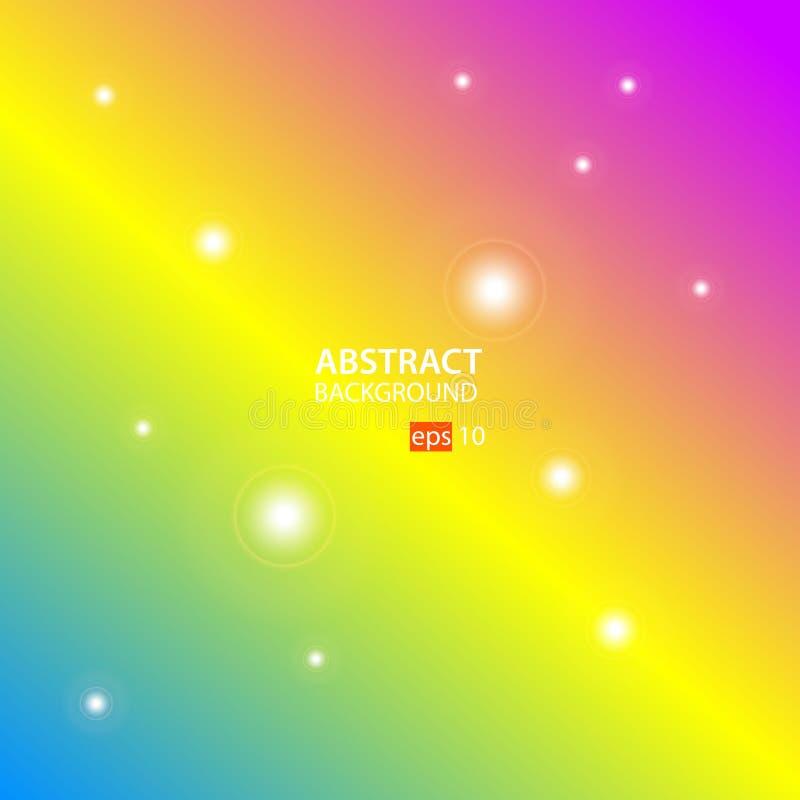 Geometrische abstracte vector als achtergrond met Groen, Geel, Roze vector illustratie