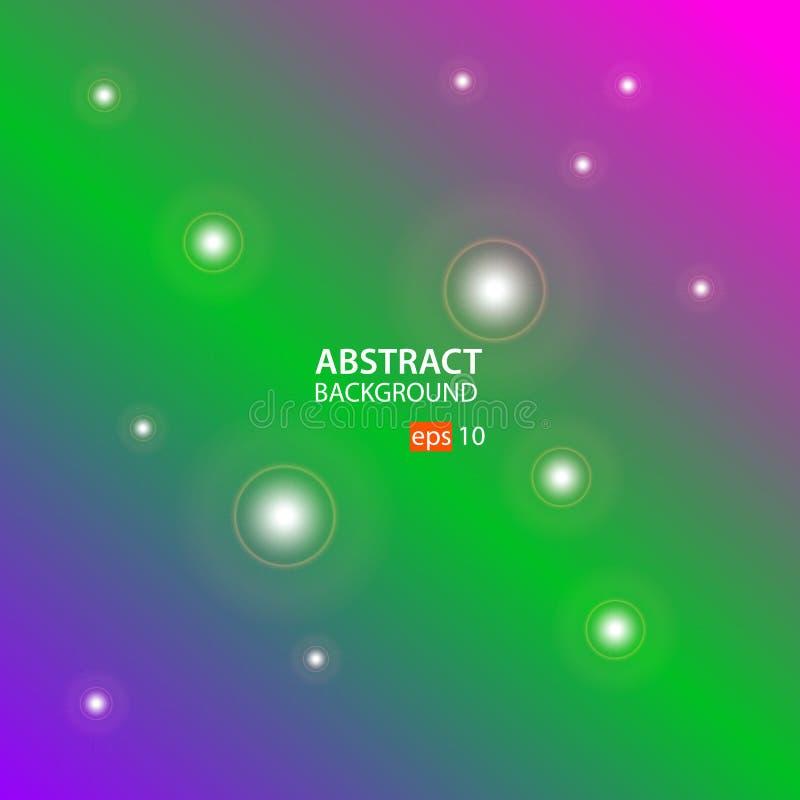 Geometrische abstracte vector als achtergrond met Purple, Groen en Roze stock illustratie