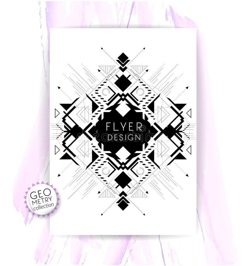 Geometrische abstracte vlieger royalty-vrije illustratie