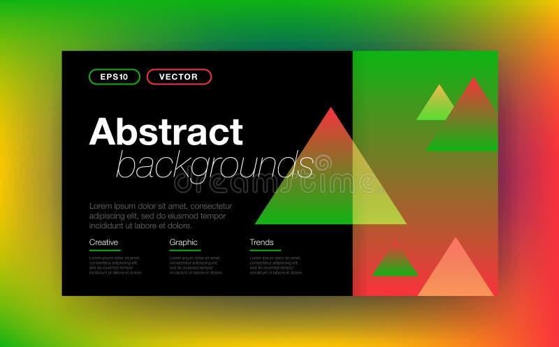 Geometrische achtergrond met abstracte vormen vector illustratie