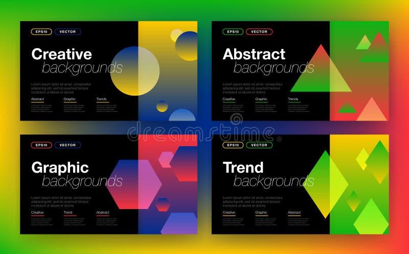 Geometrische achtergrond met abstracte vormen royalty-vrije illustratie