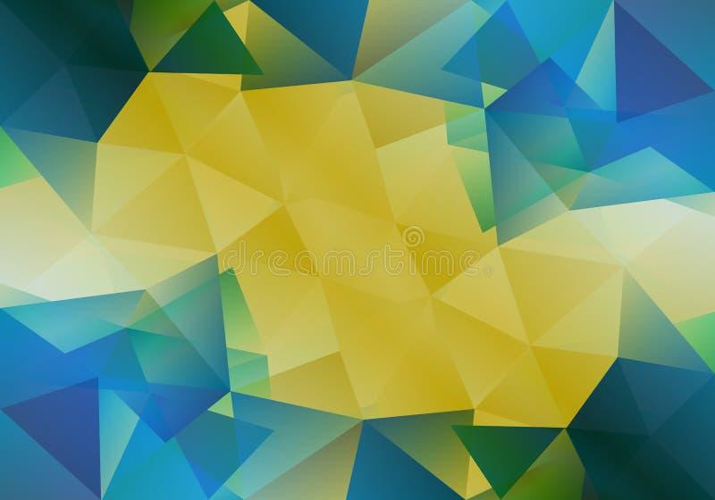 Geometrische achtergrond met driehoekige veelhoeken Abstract ontwerp Vector illustratie royalty-vrije illustratie