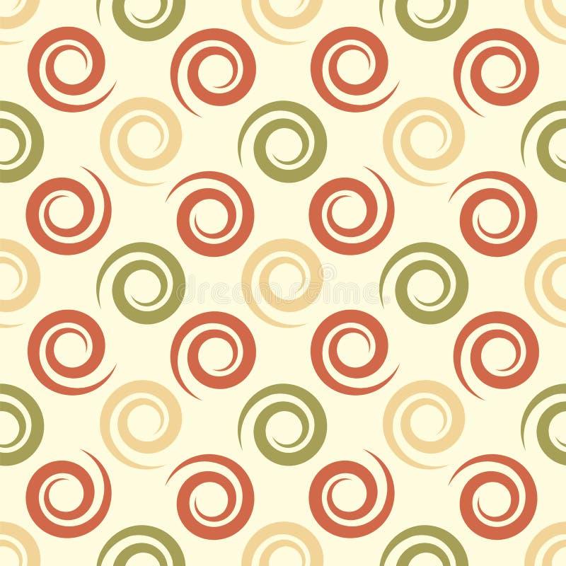 Geometrische achtergrond met spiralen Abstracte naadloos royalty-vrije illustratie