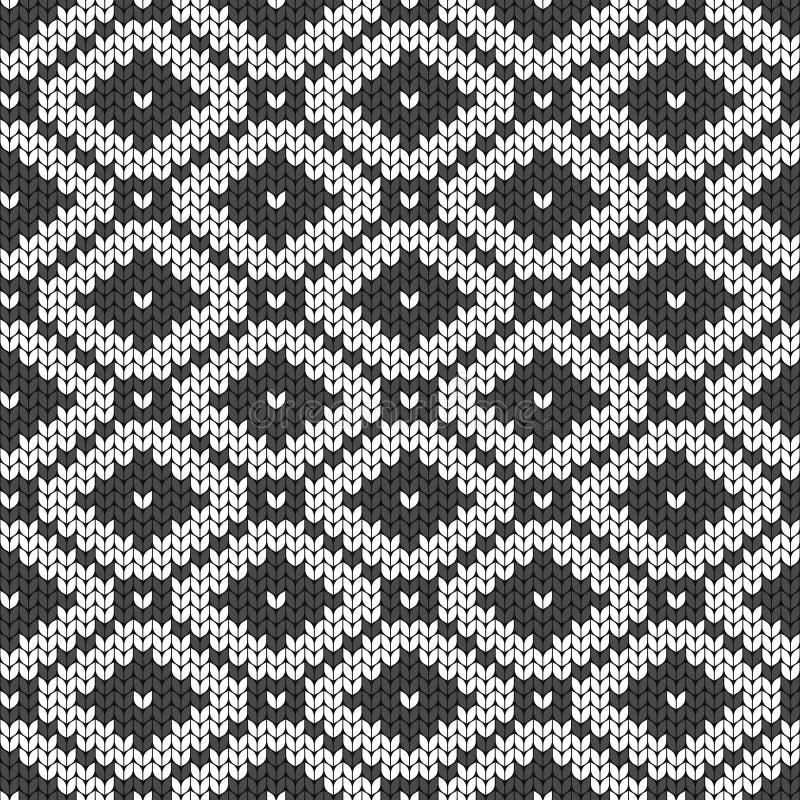 Geometrische achtergrond Naadloze decoratieve achtergrond Gebreid patroon voor sweater, sokken Jacquardweefsel behang stock illustratie