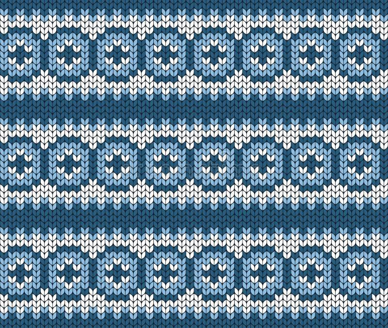 Geometrische achtergrond Naadloze decoratieve achtergrond Jacquardweefsel Gebreid patroon voor sweater, sokken stock illustratie