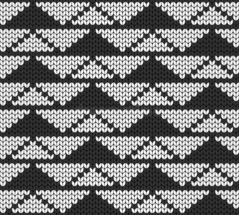 Geometrische achtergrond van driehoeken Naadloze decoratieve achtergrond Jacquardweefsel Gebreid patroon royalty-vrije illustratie