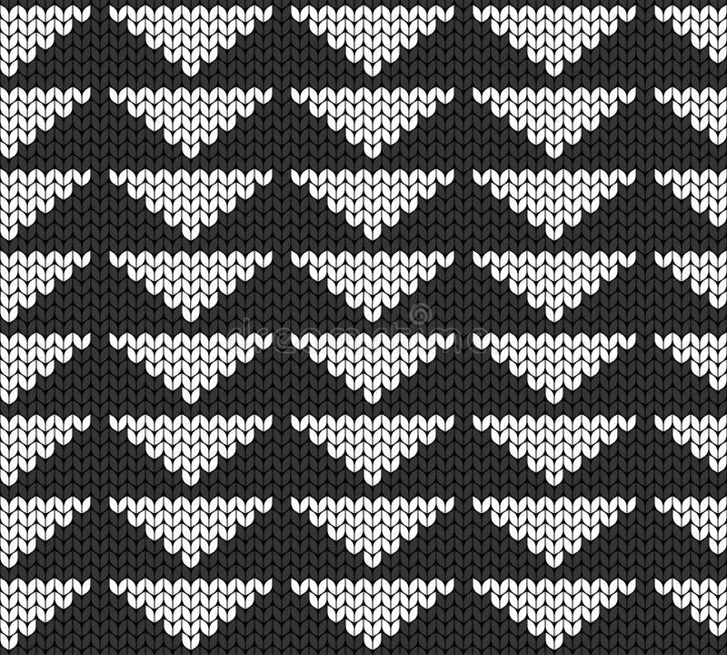 Geometrische achtergrond van driehoeken Naadloze decoratieve achtergrond Jacquardweefsel Gebreid patroon voor sweater, sokken stock illustratie