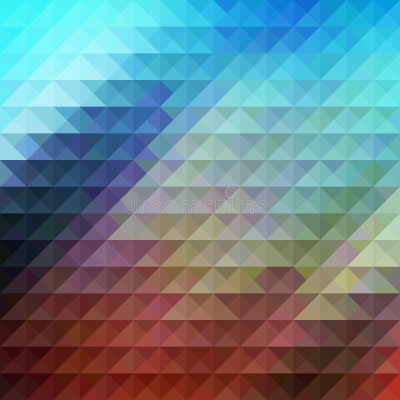 Geometrische achtergrond van het driehoeks de veelhoekige patroon, technologie stock afbeelding