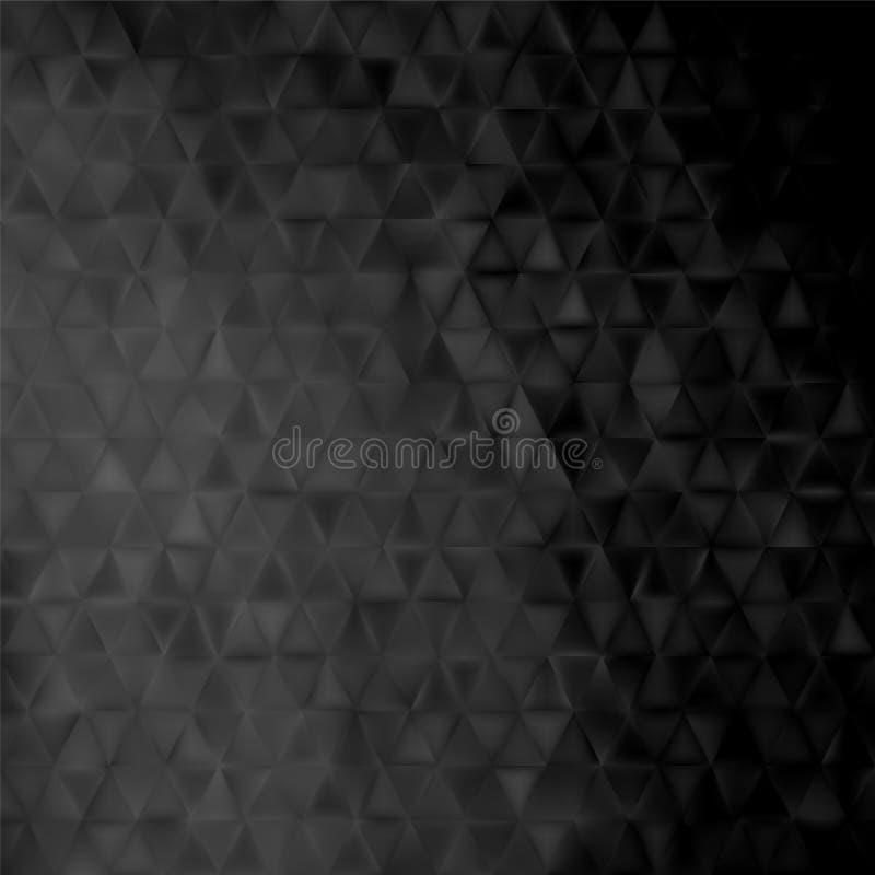 Geometrische achtergrond - zwarte driehoeken vector illustratie