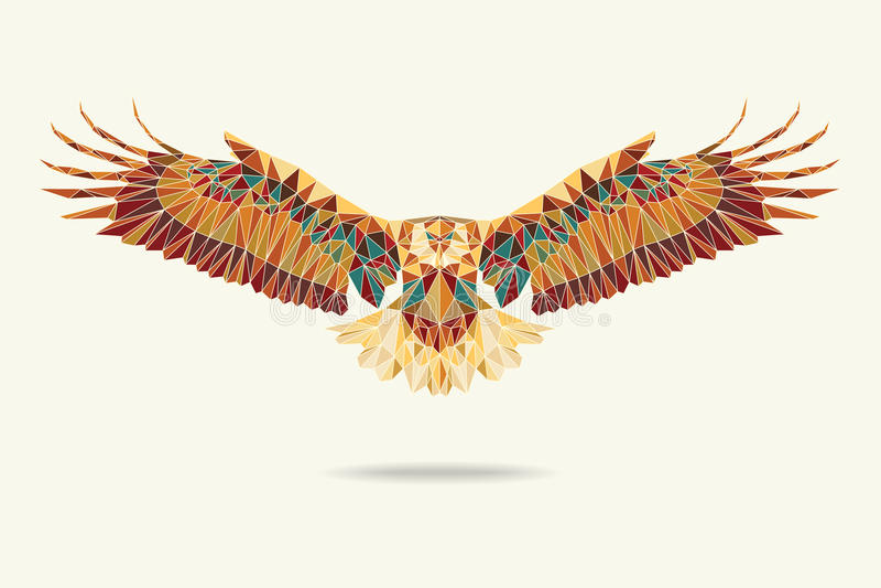 Geometrische Adlerzusammenfassungsfarben lizenzfreie stockfotografie