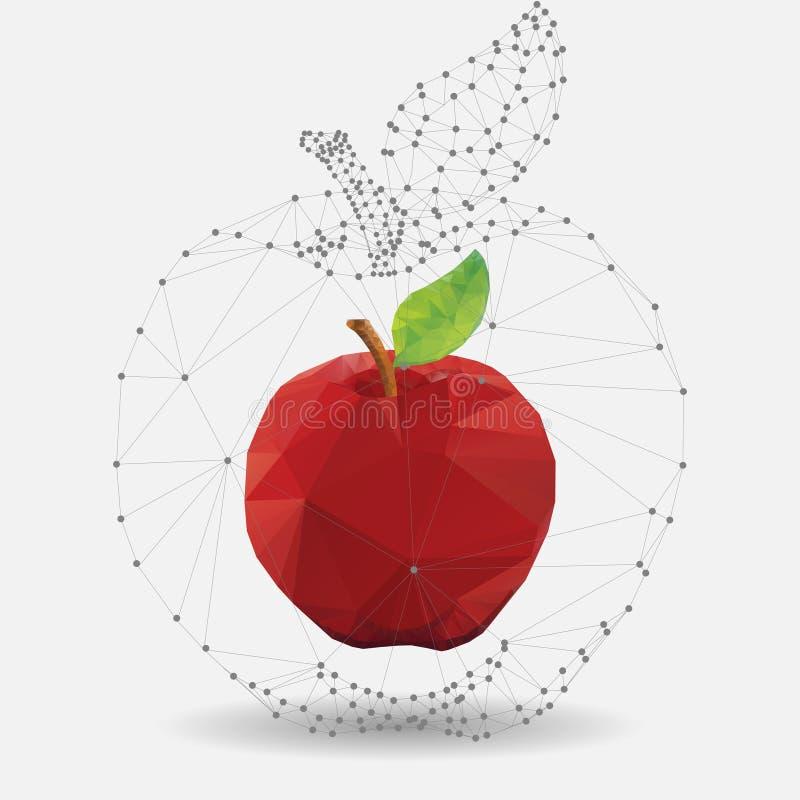 Geometrische appel royalty-vrije illustratie