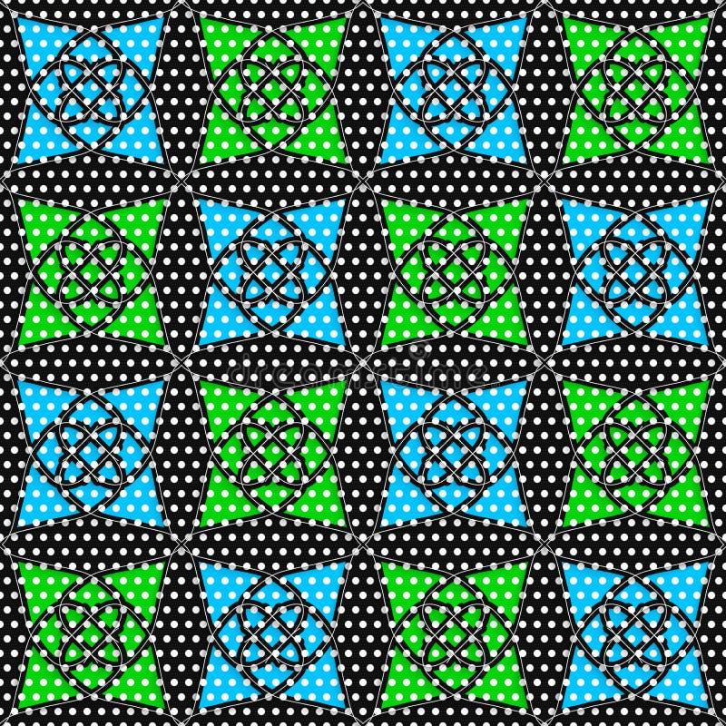 Geometrische arabische Verzierung mit schwärmerisch verehrter Beschaffenheit und blauem Grün vektor abbildung