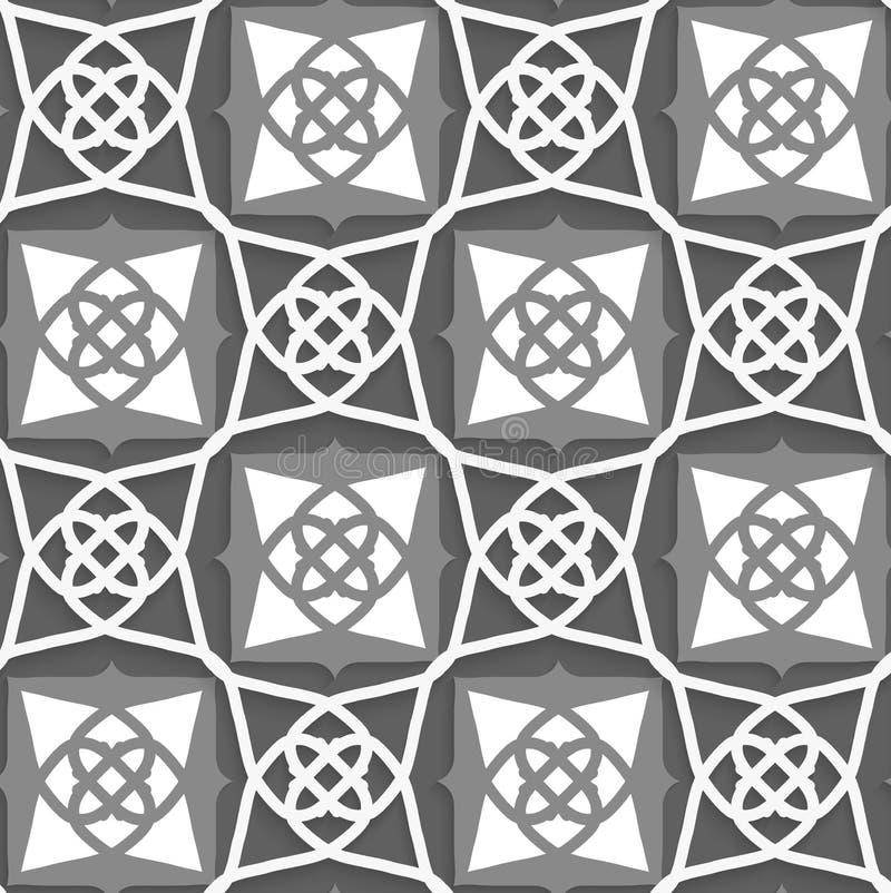 Geometrische arabische Verzierung mit Weiß und Graun stock abbildung