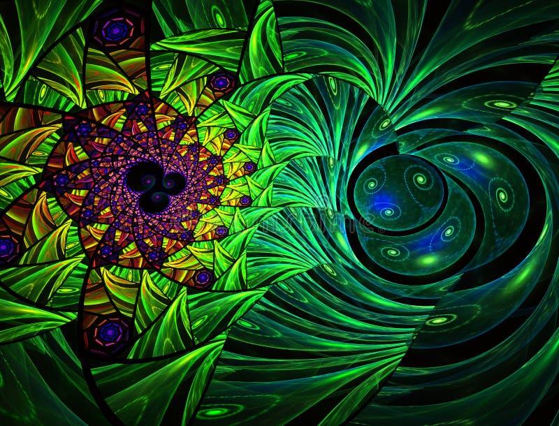 Geometrische Auslegung Mosaik-Buntglasbeschaffenheit vektor abbildung