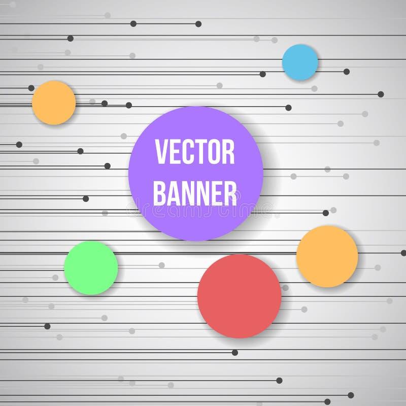 Geometrische banner met cirkelelementen en plaats voor Uw tekst royalty-vrije illustratie