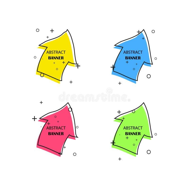 Geometrische banners r r vector illustratie