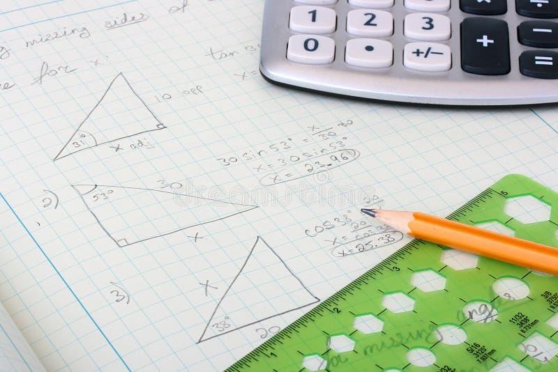 Geometrische berekeningen stock afbeeldingen