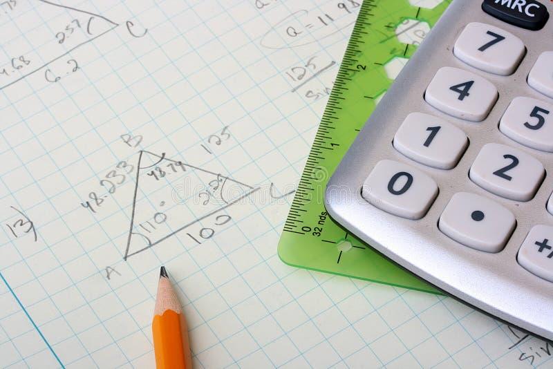Geometrische berekeningen stock afbeelding