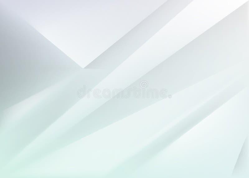 Geometrische blauwe abstracte achtergrond met driehoeken en lijnen Vector illustratie royalty-vrije illustratie