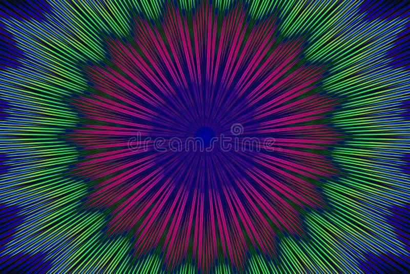 Geometrische bloem van het ornament de bloemenpatroon decor vector illustratie