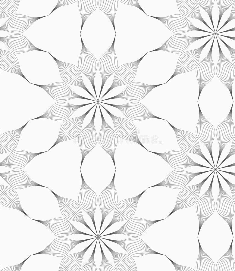 Geometrische Blume des Pedals des Graus acht lizenzfreie abbildung