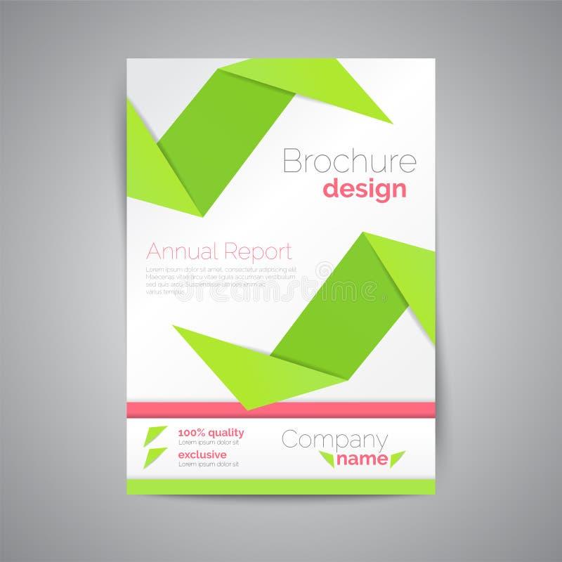 Geometrische brochure A4 Origamistijl Materieel Ontwerp royalty-vrije illustratie