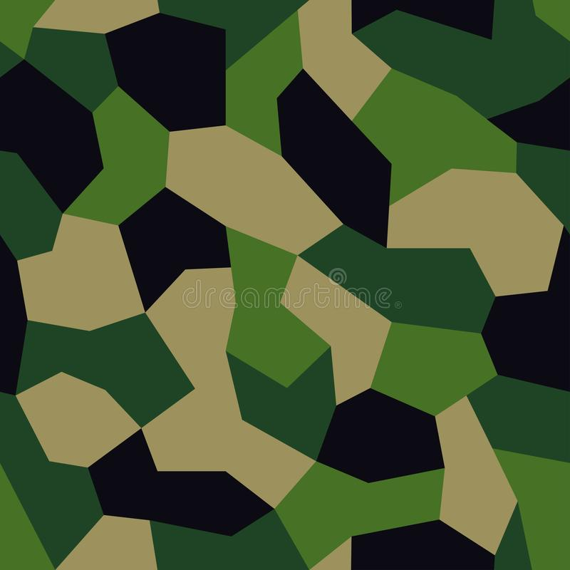 Geometrische camouflage Moderne stedelijke camodruk voor stof Het groene patroon van veelhoekcamo, vat geometrische achtergrond s vector illustratie