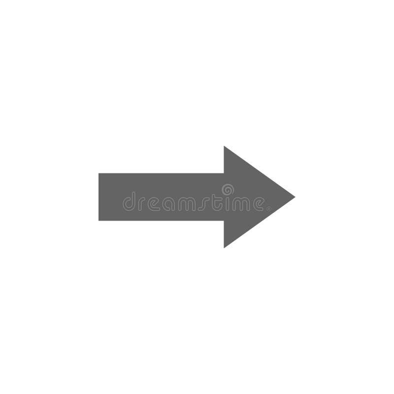 Geometrische cijfers, pijlpictogram Elementen van het geometrische pictogram van de cijfersillustratie De tekens en de symbolen k royalty-vrije illustratie