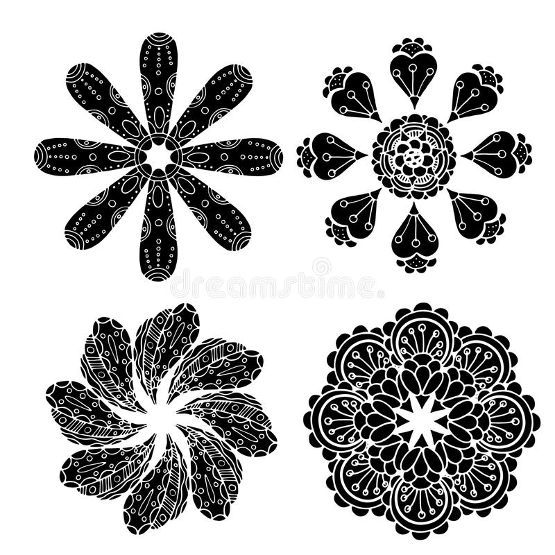Geometrische cirkelornamentreeks vector illustratie